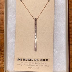 Jewelry - Rose gold brass necklace